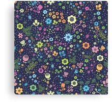 Lovely floral design. Cute flowers Canvas Print