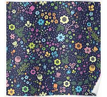 Lovely floral design. Cute flowers Poster