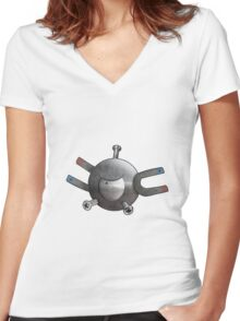 The Magnet One Women's Fitted V-Neck T-Shirt
