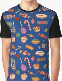 Candy & Bonbon (blue) Graphic T-Shirt