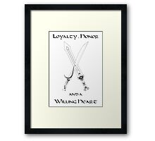 Thorin Oakenshield : Loyalty Framed Print