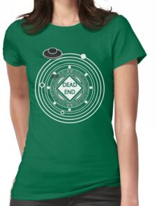 Intergalactic Road Sign (Light) Womens Fitted T-Shirt