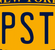 New York License Plate Sticker