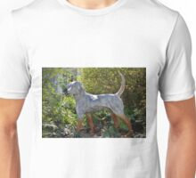 Dog On Alert Statue Unisex T-Shirt