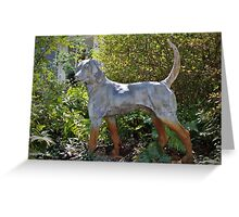 Dog On Alert Statue Greeting Card