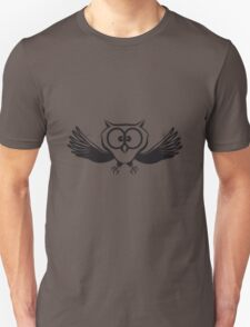 OWL fly wings spread funny Unisex T-Shirt