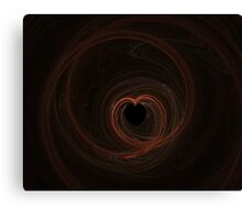 Fractal 13- red heart Canvas Print