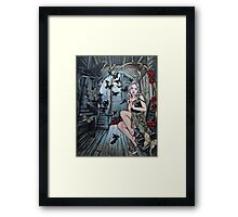 The gilded cage steampunk art Framed Print