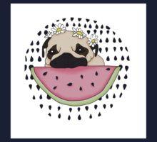 Watermelon Pug Kids Tee