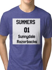 Summers unofficial chosen one jersy Tri-blend T-Shirt