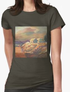 One Sunset Village Womens Fitted T-Shirt