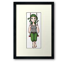 Sadly Swinging Gorgon Framed Print