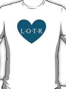 Lotr heart - blue T-Shirt