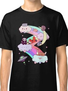 Rainbow Clouds and Animals Classic T-Shirt