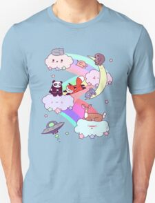 Rainbow Clouds and Animals Unisex T-Shirt