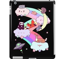 Rainbow Clouds and Animals iPad Case/Skin