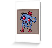 Zombie Monkey Greeting Card