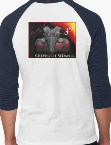 Painted Lady - 1939 Chevrolet Sedan Men's Baseball ¾ T-Shirt