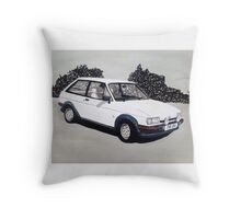 Mk.2 Ford Fiesta XR2 Throw Pillow
