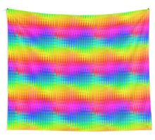 Rainbow Color Waves Pattern Wall Tapestry