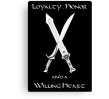 Thorin Oakenshield : Loyalty  -white- Canvas Print