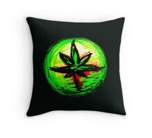 Rasta Leaf Throw Pillow