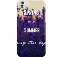 Spring Awakening- Blue Wind Lyric iPhone Case/Skin