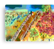 French Countryside, by Roger Pickar, Goofy America Canvas Print