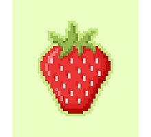Pixel Strawberry Photographic Print
