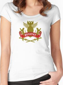 The Regent Coat-of-Arms Women's Fitted Scoop T-Shirt