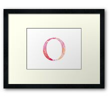 Pink Omicron Watercolor Letter Framed Print