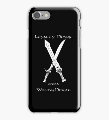 Thorin Oakenshield : Loyalty  -white- iPhone Case/Skin