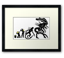 evolution for alien funny Framed Print