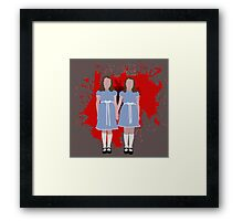 Shining Twins Framed Print