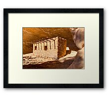 Doll House Anasazi Ruin - Utah Framed Print