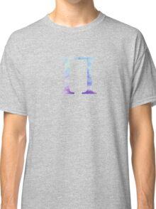 Blue Pi Watercolor Letter Classic T-Shirt