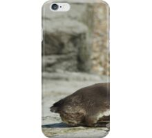 The 2 positions of the Penguin iPhone Case/Skin