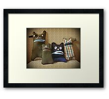 Oh noooo! Is she again with that Thing in her Hands!! Framed Print