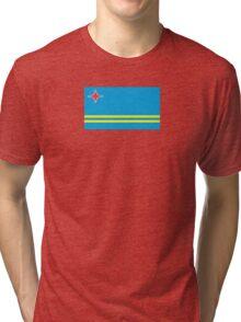 Flag of Aruba  Tri-blend T-Shirt