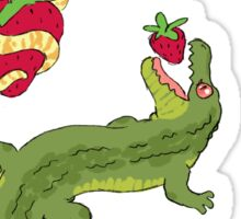 Strawberry stickers- snake, bat & gator Sticker