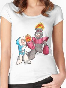 Ice Man and Fire Man Women's Fitted Scoop T-Shirt