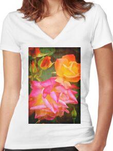 Rose 266 Women's Fitted V-Neck T-Shirt