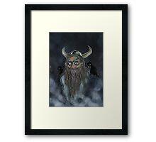 Odin in the Mist Framed Print