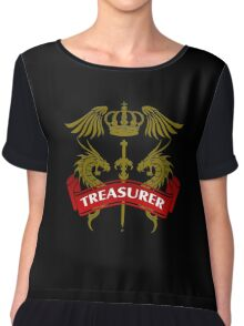 The Treasurer Coat-of-Arms Chiffon Top