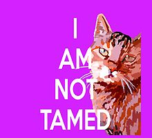 I Am Not Tamed X by Khairzul MG