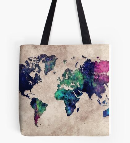 World map watercolor 1 Tote Bag