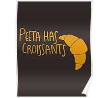 Peeta Has Croissants - Yellow Poster