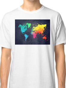 world map watercolor 6 Classic T-Shirt