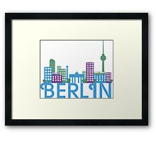 Skyline Berlin Framed Print