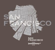 San Francisco Map One Piece - Short Sleeve